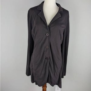 Eileen Fisher XS Tunic V Neck Button Down Jacket